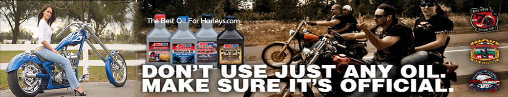 Harley 20w-50 motorcycle oil Amsoil runs cooler lasts longer